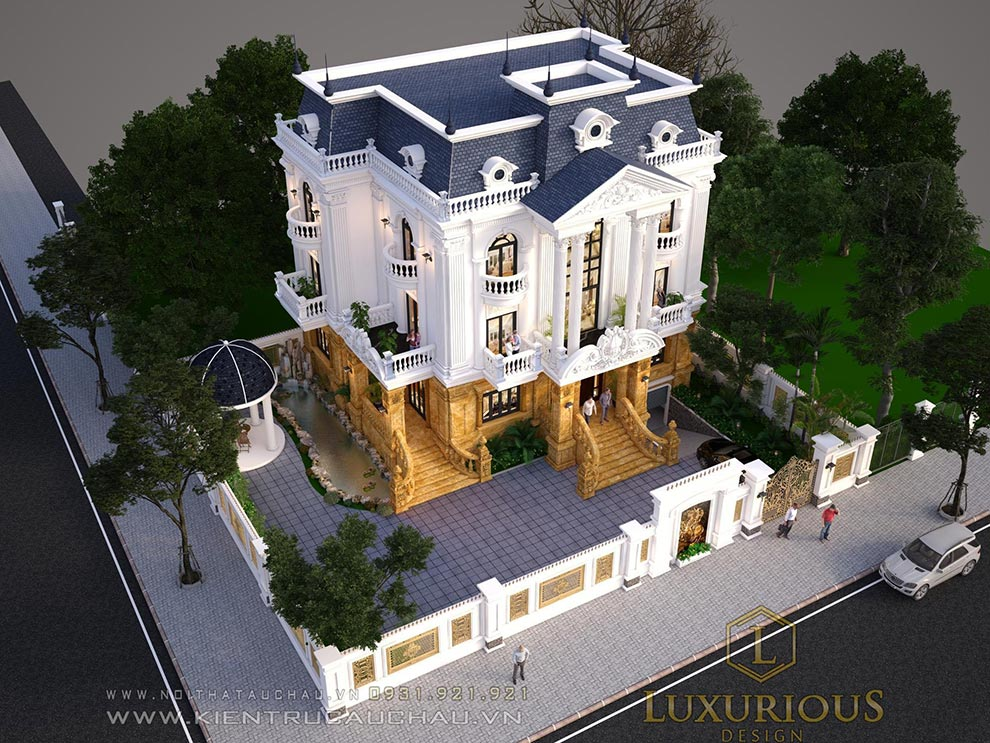 Mặt bằng kiến trúc biệt thự đẹp đẳng cấp