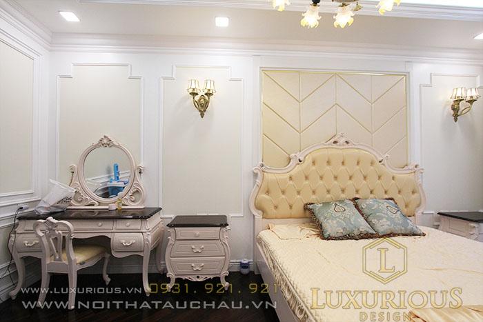 Thiết kế nội thất biệt thự liền kề phòng ngủ