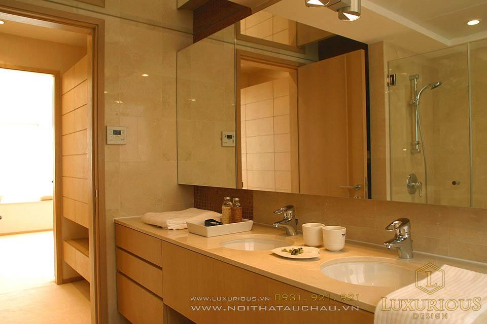 Thi công nội thất phòng vệ sinh nhà biệt thự