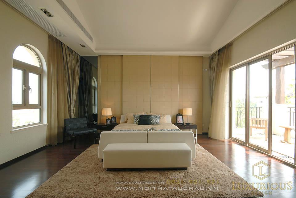 Phòng ngủ biệt thự 3 tầng hiện đại đẹp nhất