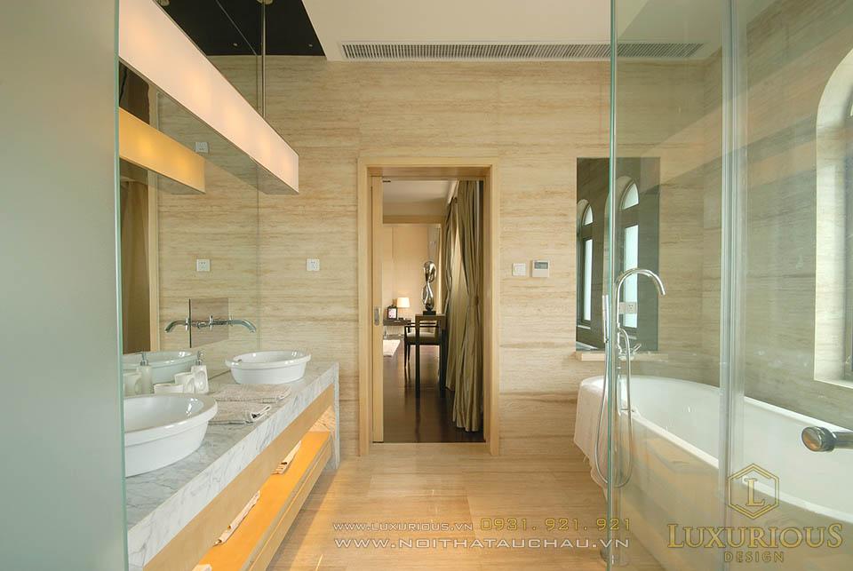 Thiết kế thi công nội thất biệt thự hiện đại 3 tầng 1 tum