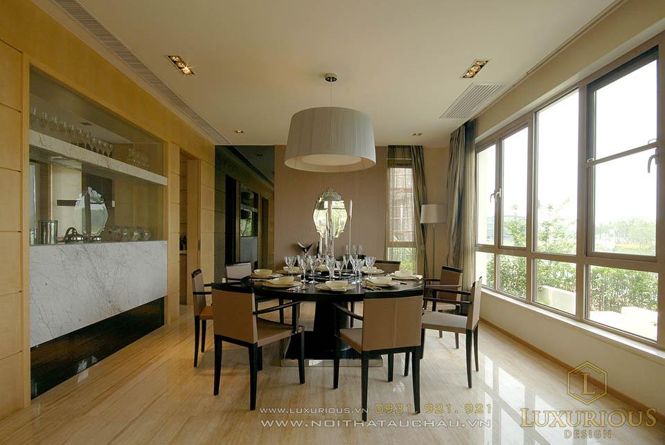Mẫu thiết kế phòng ăn nhà biệt thự sang trọng