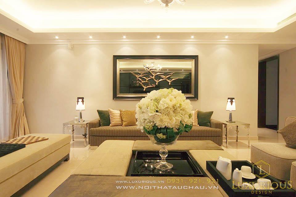 Thiết kế nội thất phòng khách chung cư 130m2