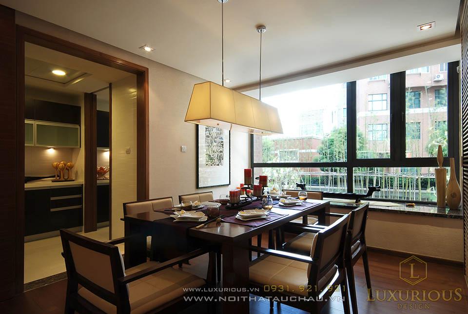 Thi công nội thất phòng ăn đẹp cho nhà biệt thự