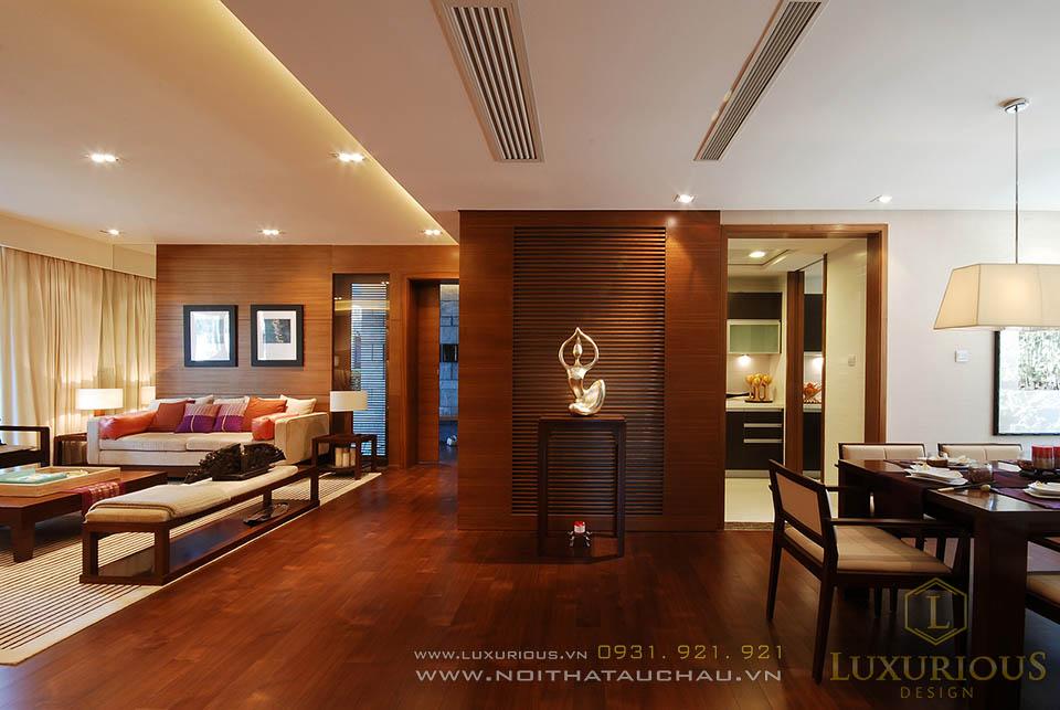 Thiết kế thi công nội thất nhà biệt thự 2 tầng đẹp lung linh