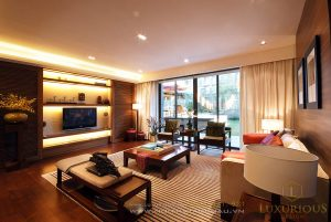Thiết kế thi công nội thất biệt thự 2 tầng phong cách Á Đông