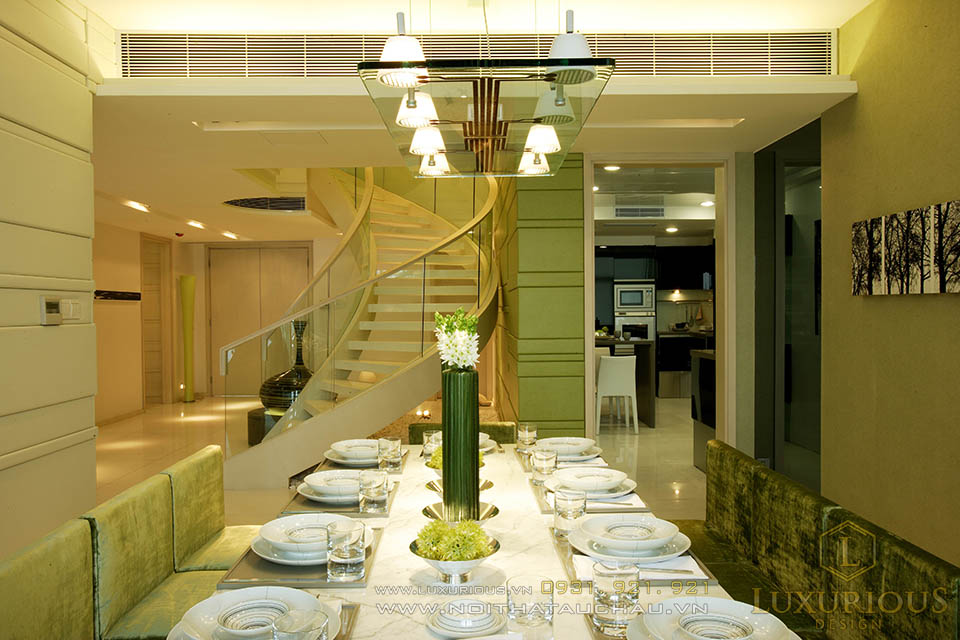 Phòng ăn căn hộ Penthouses