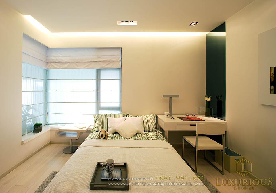 Thiết kế thi công nội thất phòng ngủ chung cư cao cấp
