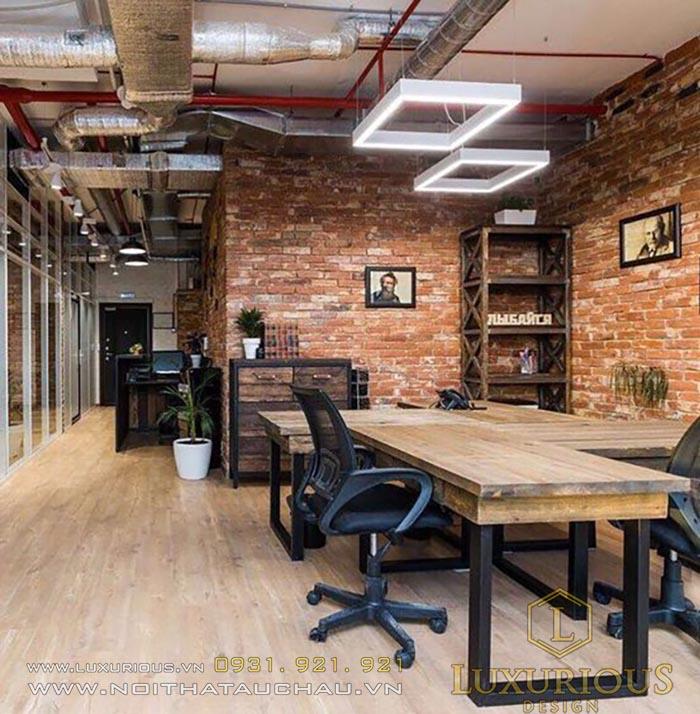 Mẫu văn phòng phong cách Industrial Style
