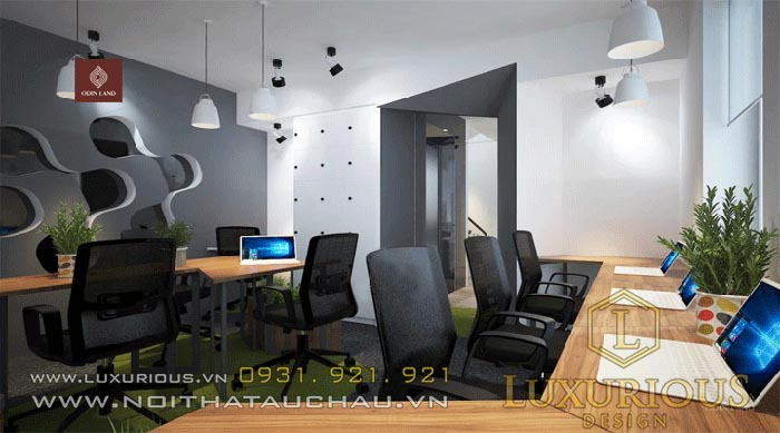 Mẫu văn phòng phong cách Luxury