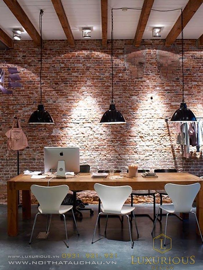 Phong cách thiết kế văn phòng Industrial Style