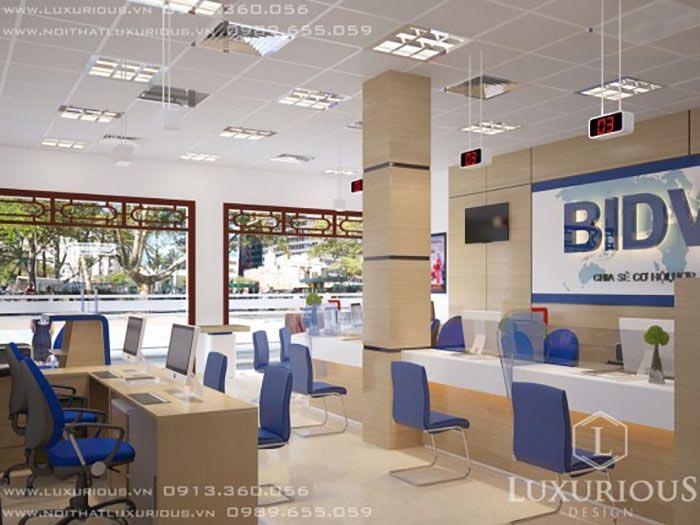 Mẫu thiết kế văn phòng ngân hàng đẹp