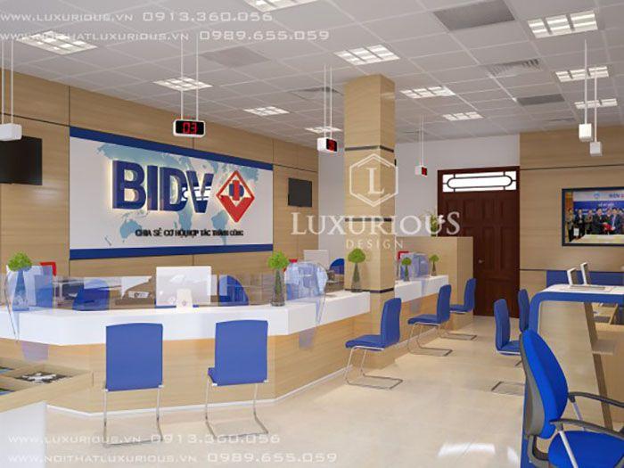 Thiết kế văn phòng ngân hàng BIDV