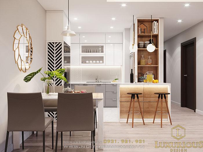 Đảo bếp căn hộ chung cư nhỏ