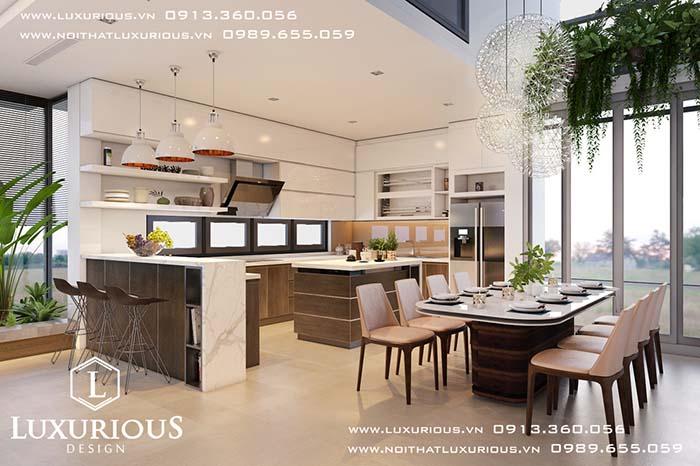Phòng bếp biệt thự Gamuda