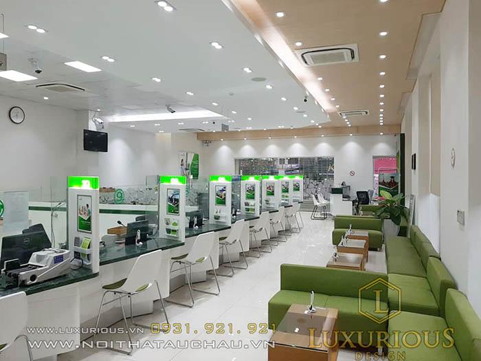 Thi công văn phòng giao dịch Vietcombank