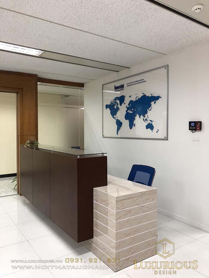 Quầy lễ tân văn phòng