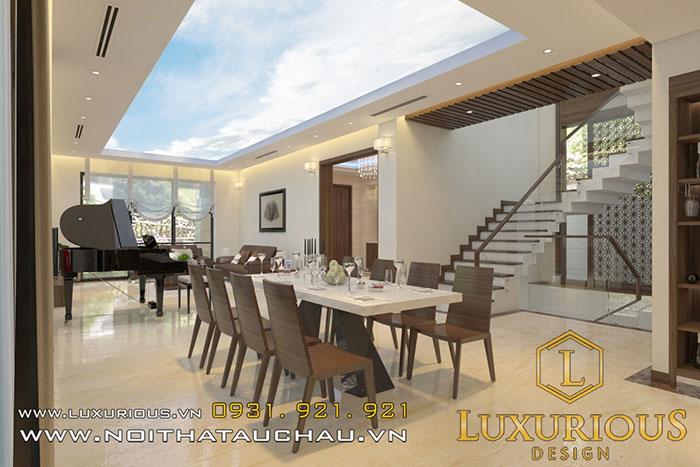 Thiết kế nội thất phòng ăn vinhomes the harmony