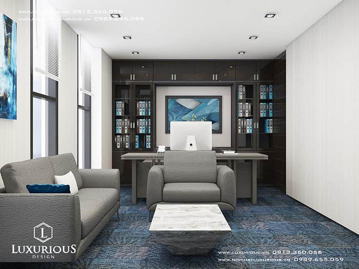 Thiết kế nội thất phòng giám đốc MBH