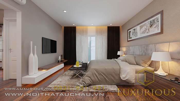 Thiết kế phòng ngủ biệt thự Vincom Village