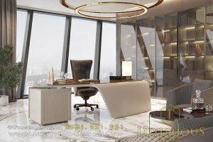 Thiết kế văn phòng phong cách Luxury