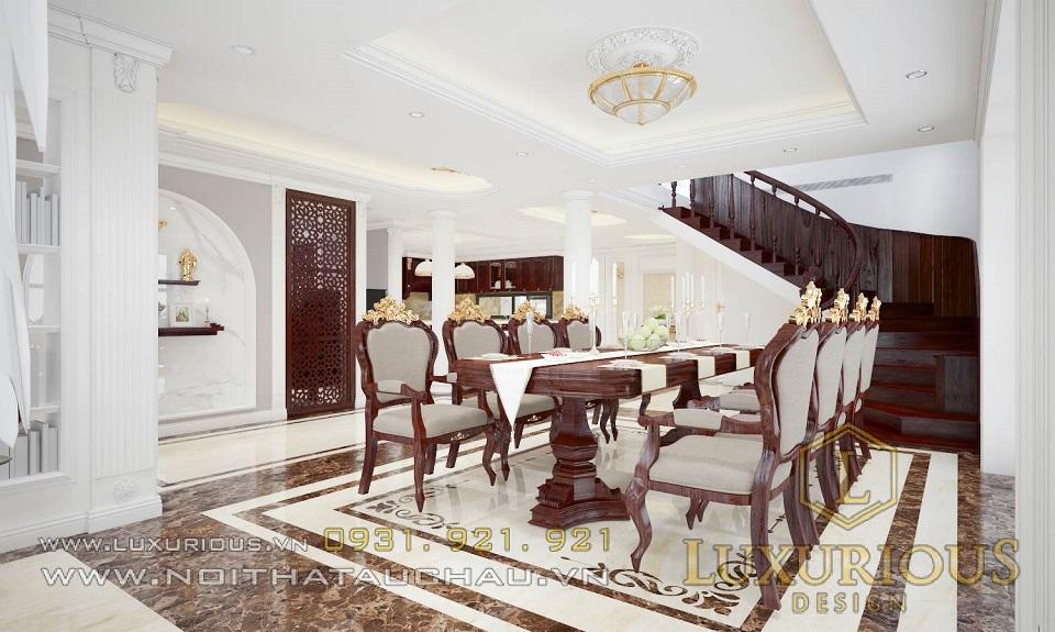 Hình ảnh 3d sắc nét của mẫu thiết kế nội thất biệt thự tại Hà Tĩnh