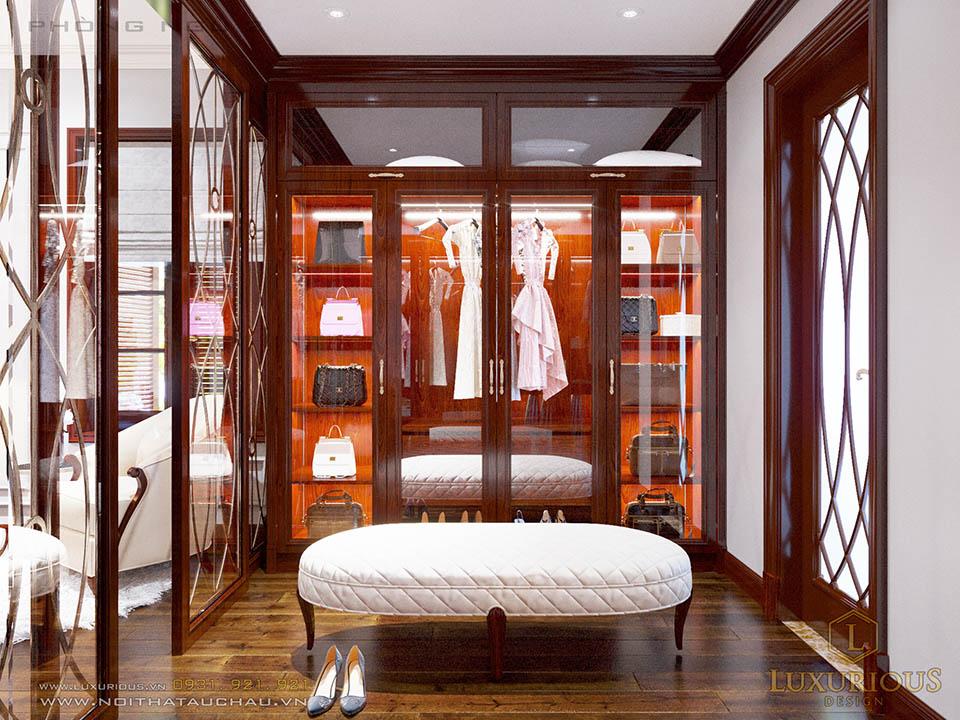 Phòng thay đồ phòng ngủ Master