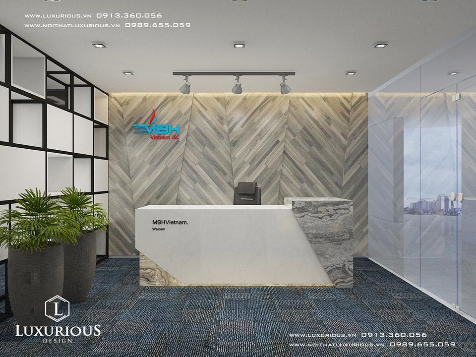 Mẫu thiết kế nội thất văn phòng đẹp Hà Nội
