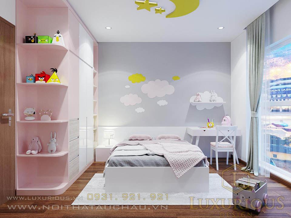 thiết kế phòng ngủ cho con gái