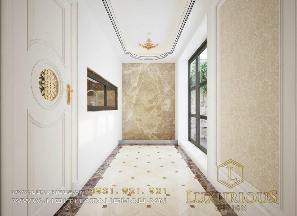 Mẫu thiết kế nội thất biệt thự Hà Tĩnh phong cách tân cổ điển