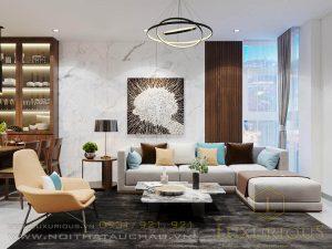 Thiết kế nội thất chung cư Ciputra phòng khách