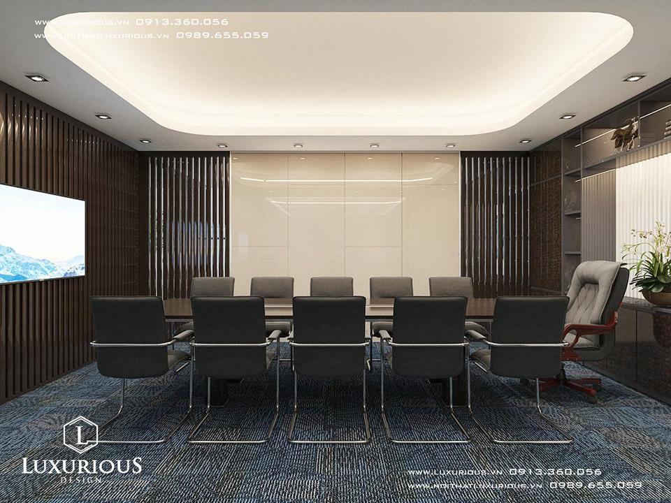 Thiết kế nội thất phòng họp văn phòng