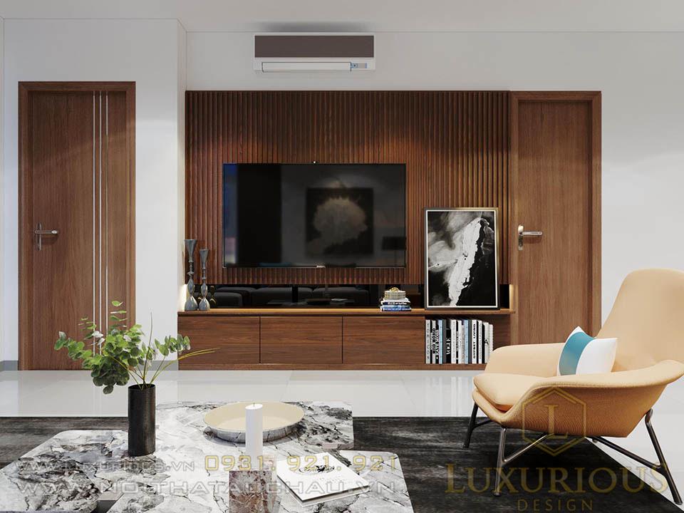 Thiết kế nội thất phòng khách chung cư ciputra