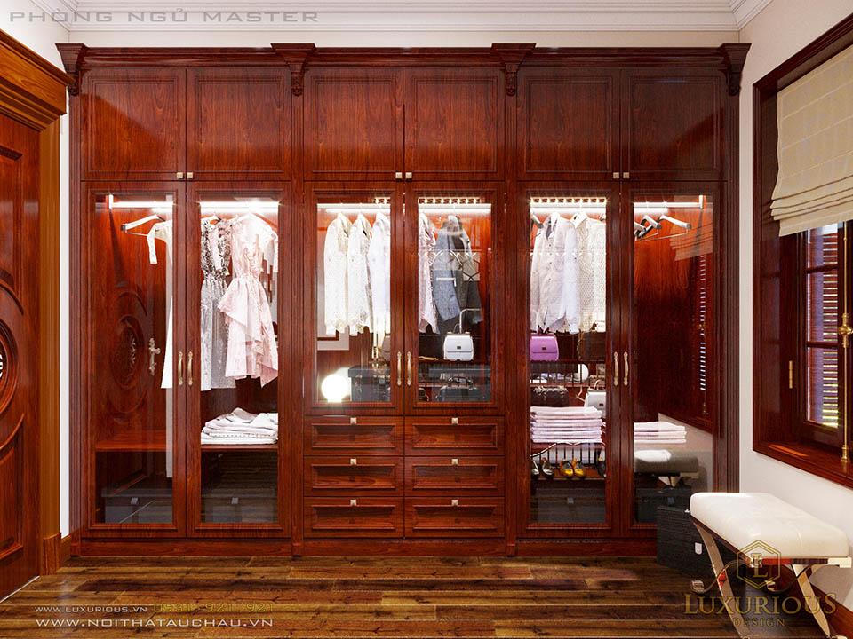 tủ quần áo nhà biệt thự