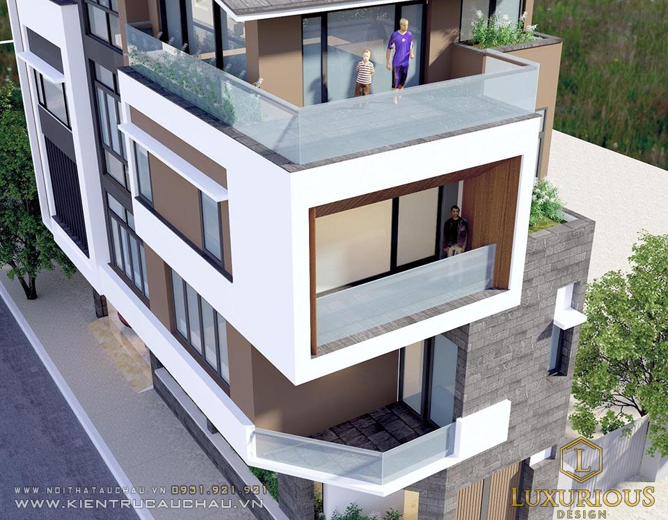 Mẫu biệt thự phố 4 tầng đẹp