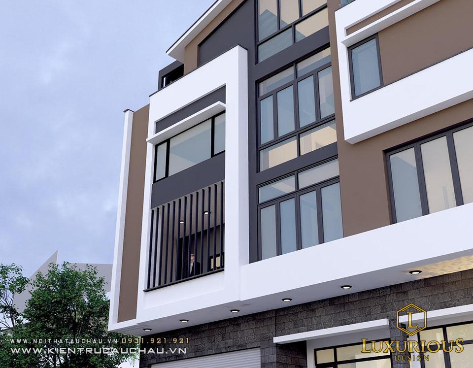 Thiết kế kiến trúc nhà phố 4 tầng tại Bắc ninh