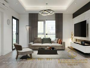 Mẫu thiết kế nội thất căn hộ chung cư Samsora Prermier hiện đại