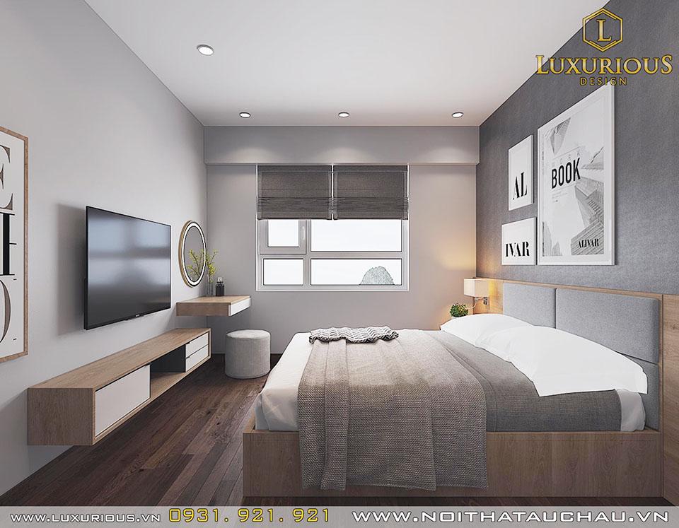 Mẫu thiết kế phòng ngủ 80m2 3 phòng ngủ