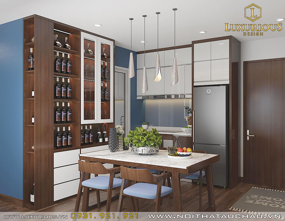 Phòng ăn chung cư hiện đại Sapphire Residence Quảng Ninh