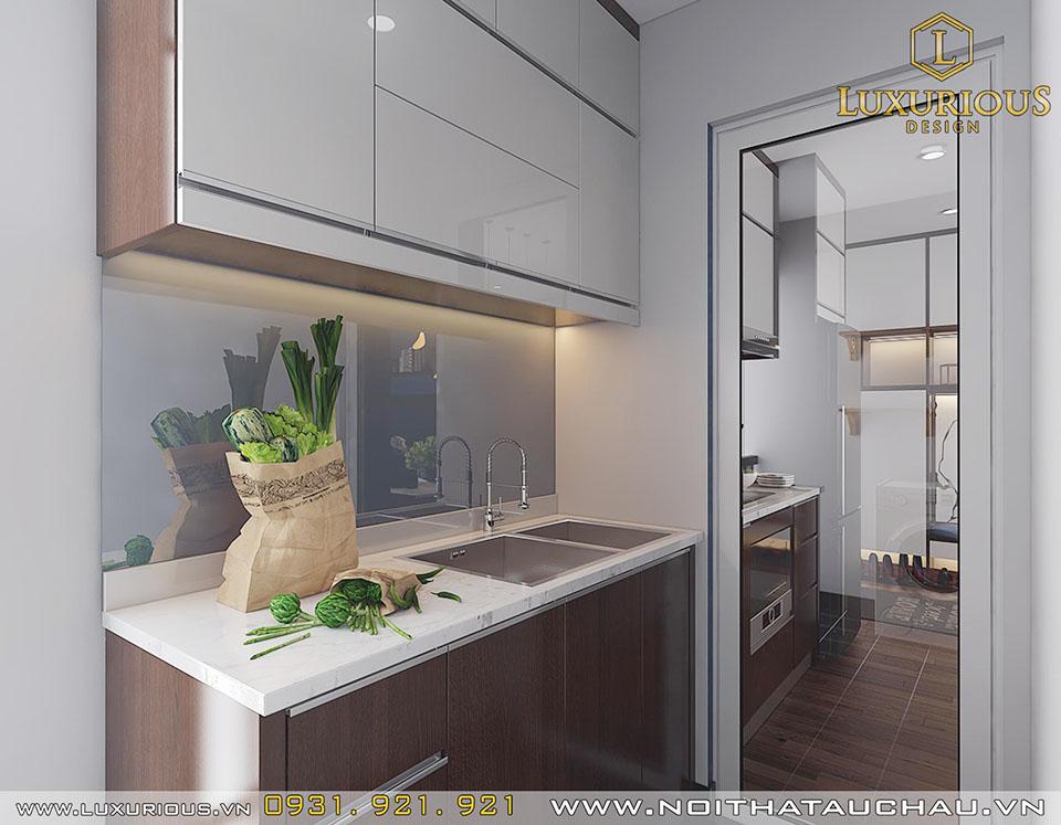 Phòng bếp chung cư 3 phòng ngủ