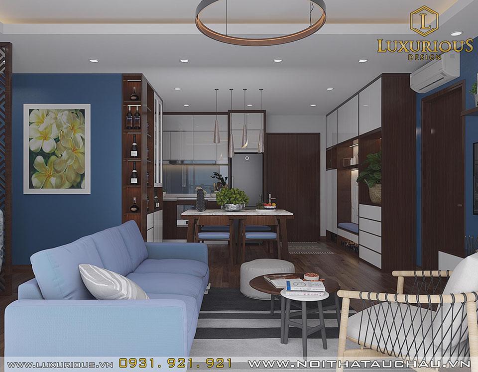 Phòng khách chung cư The Sapphire Residence Hạ Long