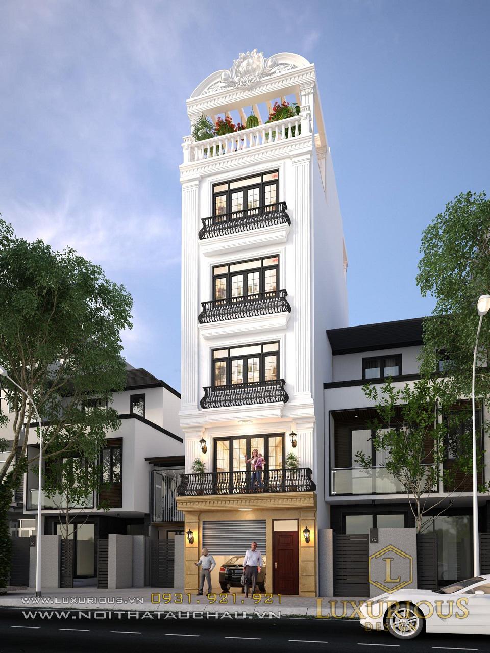 Mẫu kiến trúc nội thất nhà phố mặt tiền 5m