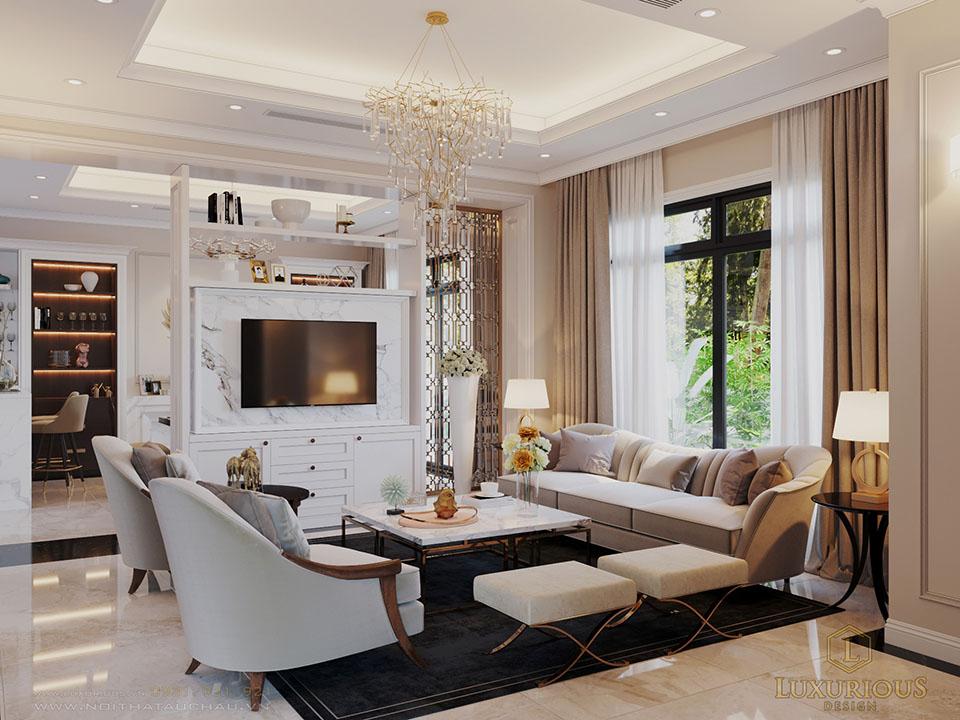 Thiết kế phòng khách biệt thự Vinhomes Imperia Hải Phòng khu Manhattan
