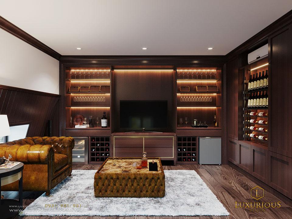 Thiết kế phòng rượu biệt thự