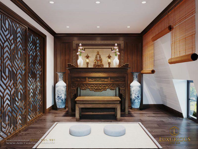 Thiết kế phòng thờ biệt thự Vinhomes Imperia Hải Phòng