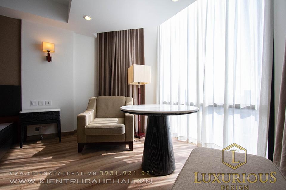 View ban công phòng khách sạn Hà Nội