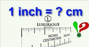 1inch bằng bao nhiêu cm