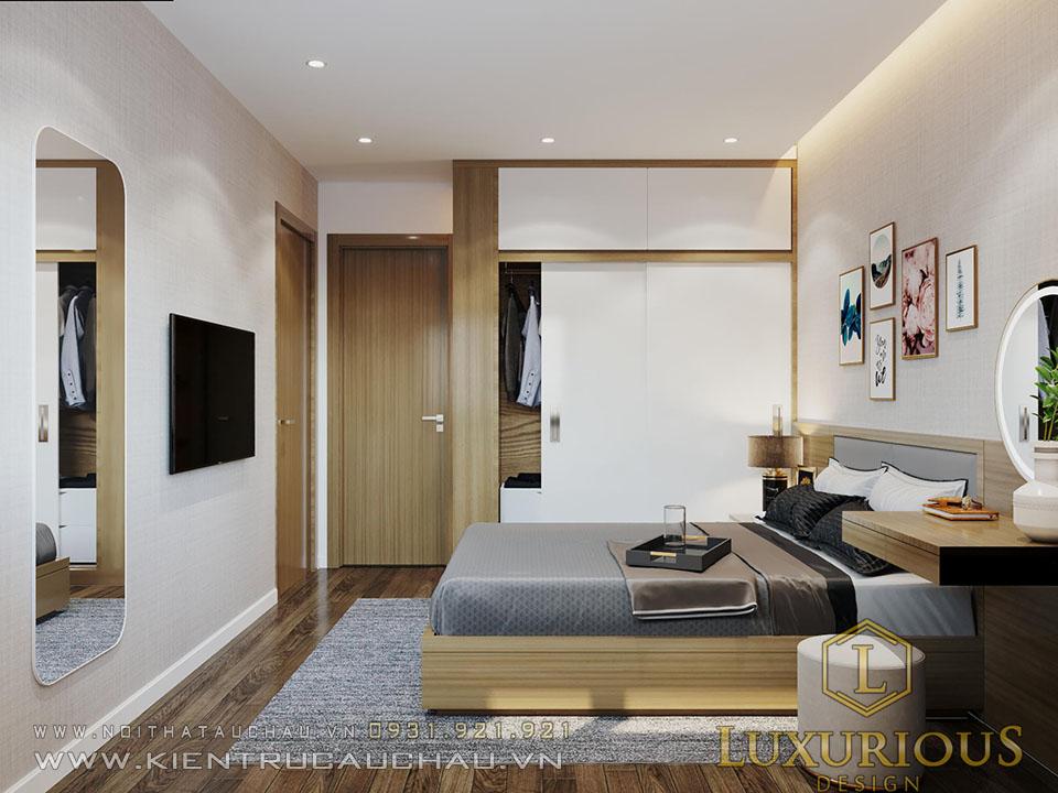 Mẫu nội thất căn mẫu phòng ngủ chung cư sky central 176 định công