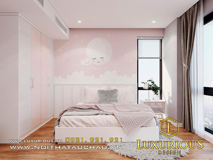 Mẫu thiết kế nội thất phòng ngủ cho bé gái
