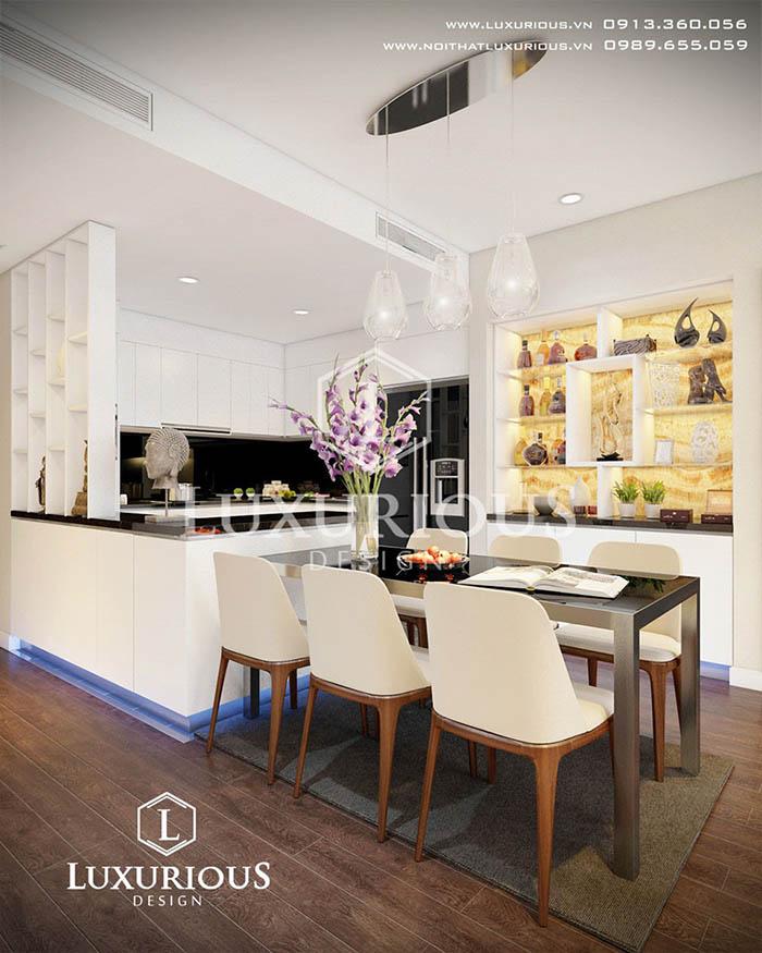 Đơn vị thiết kế thi công nội thất chung cư 3 phòng ngủ tại Hà Nội